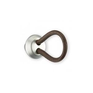Bouton de meuble cuir et métal LACET grand modèle