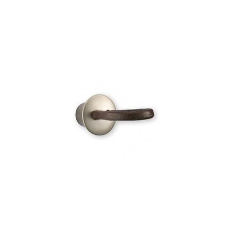 Bouton de meuble cuir et métal lacet 37 mm