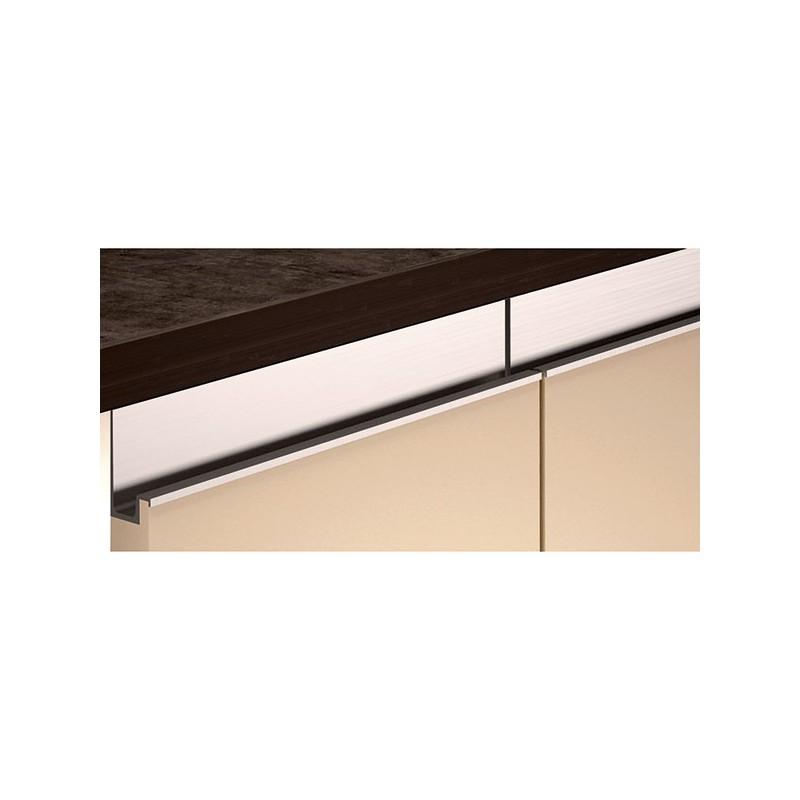 Poign e look inox profil en l38 - Poignee de meuble en cuir ...