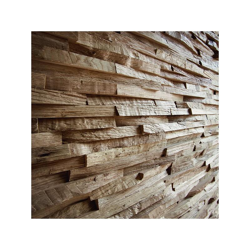 Panneau mural d coratif oslo en bois naturel de ch ne - Panneau decoratif bois ...