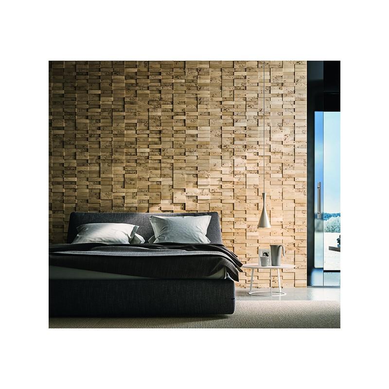 panneau mural d coratif stockholm en bois naturel de peuplier. Black Bedroom Furniture Sets. Home Design Ideas