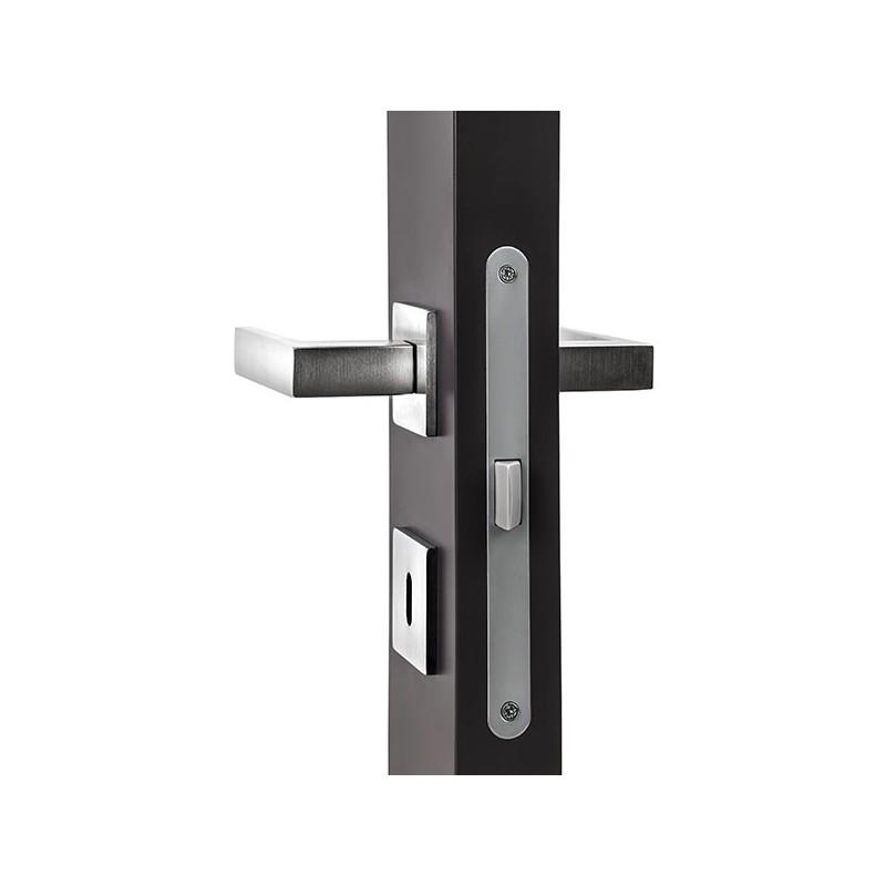 b quille de porte edra sur rosace carr e gris anthracite. Black Bedroom Furniture Sets. Home Design Ideas