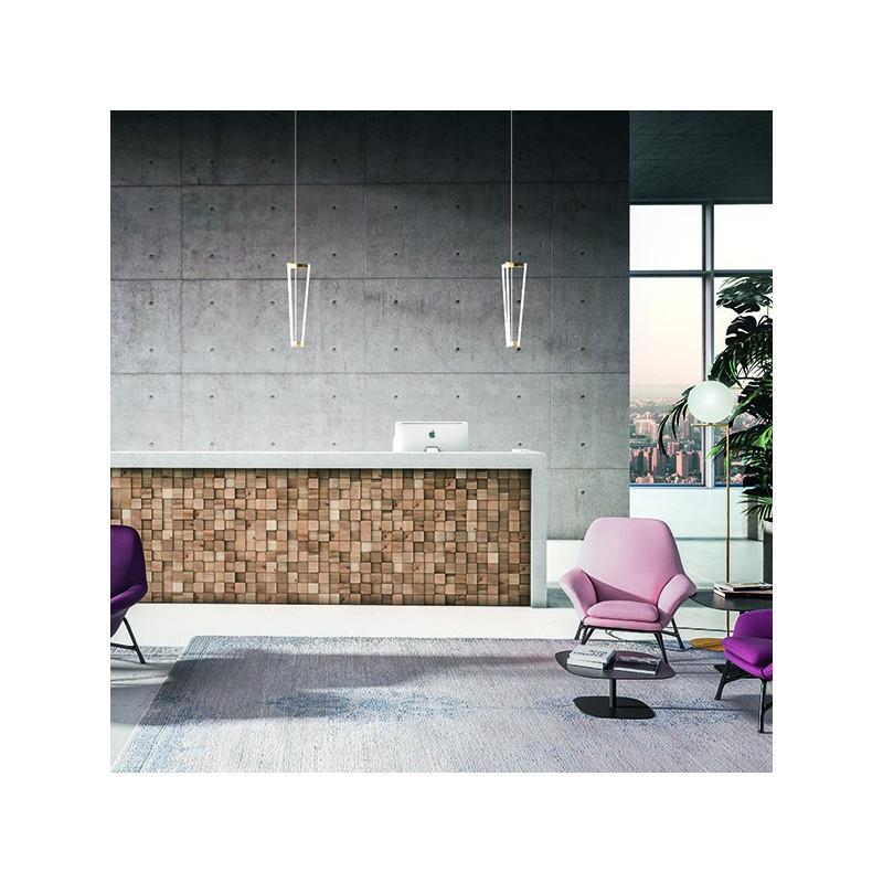 panneau mural d coratif manhattan en bois naturel de noyer. Black Bedroom Furniture Sets. Home Design Ideas
