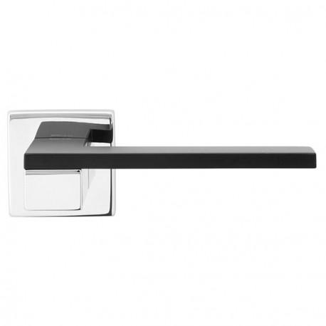 Poignée de porte bicolore ESA, chromé et blanc, noir ou argent