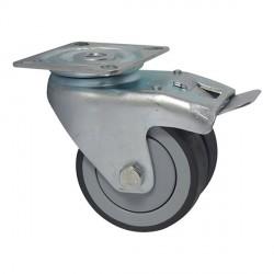 Roulette pivotante diamètre 50 à double galet