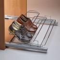 Porte chaussures coulissant chromé