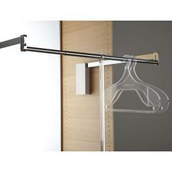 Barre de penderie escamotable premium pour caisson de meuble