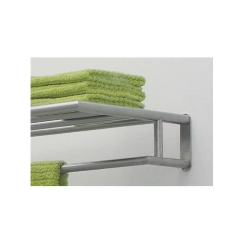 Tablette et porte serviette angle salle de bain for Porte tablette