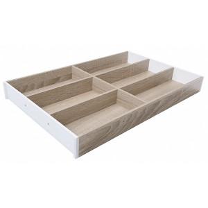 Range-couverts design bois chêne Bardolino