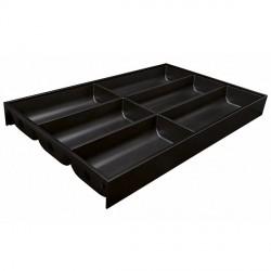 Range-couverts design acier Noir terra mat