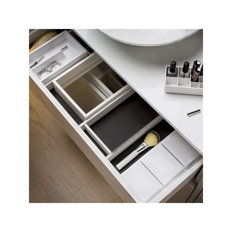 Range accessoires pour tiroir de salle de bain for Caillebotis pour salle de bain