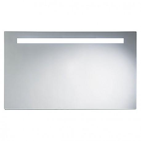 Miroir avec luminaire simple bandeau - Miroir avec bandeau lumineux ...