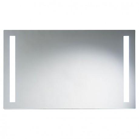 Miroir avec luminaire double bandeau