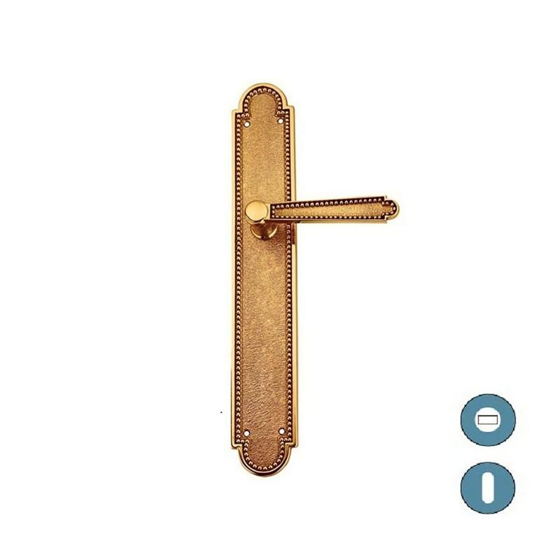 Poign e de porte sur plaque style 1900 - Plaque poignee de porte ...