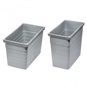 Bac poubelle gris 25 litres