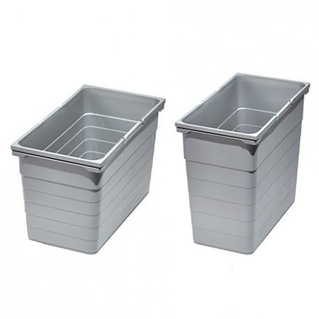 Bac gris poubelle 25 litres