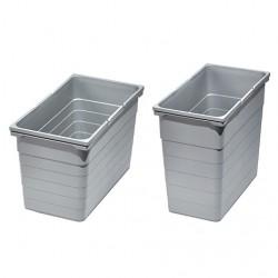Bac gris poubelle 35 litres