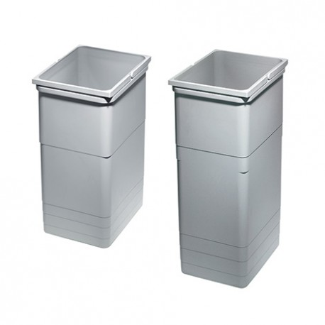 Bac gris poubelle 26 litres