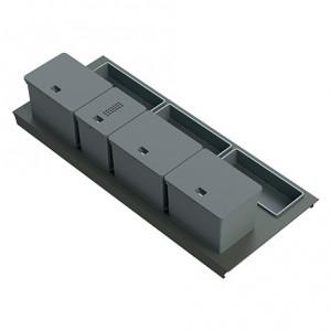 Kit poubelle de cuisine pour tiroir de 1200 mm - 4 bacs - 44 litres