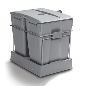 Poubelle tri sélectif 60 litres - 2 bacs