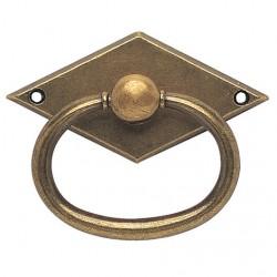 Poignée de meuble avec anneau zamack bronzé idéal pour tiroir
