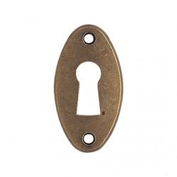 Entrée de meuble ovale coloris bronze clé i