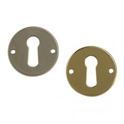 Entrée de meuble ronde laiton poli ou nickelé mat