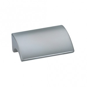 Bouton de meuble look aluminium BEAK