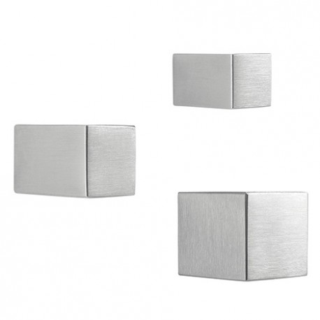 Bouton de meuble forme carré inox