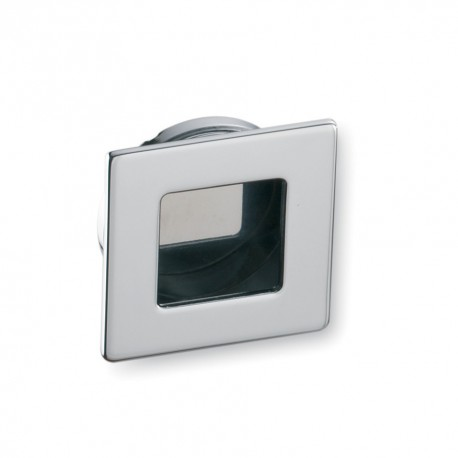 Poignée de meuble cuvette carré chromé