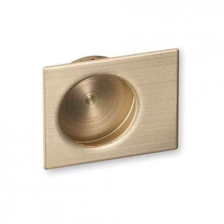 Poignée de meuble cuvette dorée décentrée VEGAS