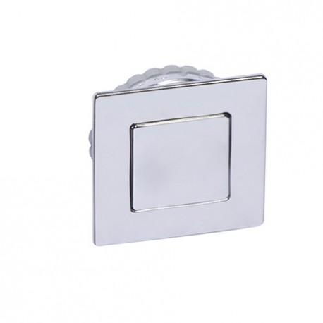Poignée de meuble cuvette avec couvercle magnétique chromé