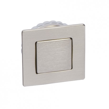Poignée de meuble cuvette avec couvercle magnétique laiton poli