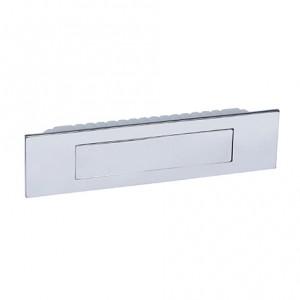 Poignée de meuble cuvette rectangle avec couvercle magnétique chromé