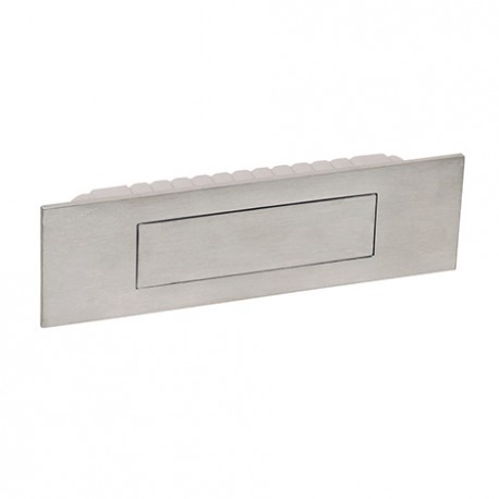 Poignée de meuble cuvette rectangle avec couvercle magnétique look inox
