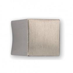 Bouton de meuble look inox forme carré