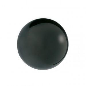 Bouton de meuble forme rond résine noir