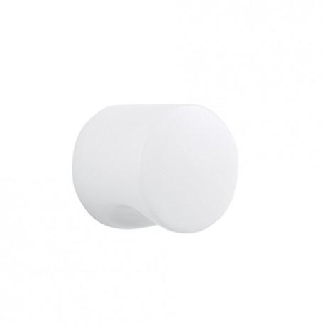 Bouton de meuble à encoche diam 33 blanc