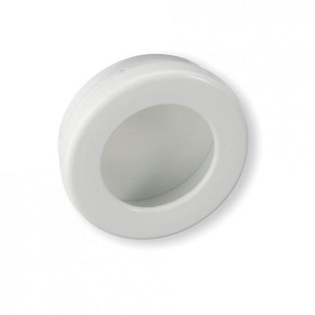 Poignée de meuble ronde cuvette blanc diam 35 mm