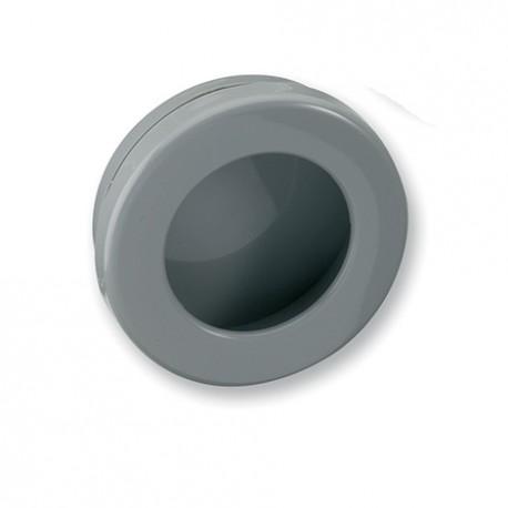 Poignée de meuble ronde cuvette gris diam 35 mm