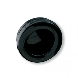 Poignée de meuble ronde cuvette noir diamètre 65 mm