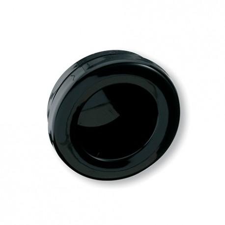 Poignée de meuble ronde cuvette noir diam 35 mm