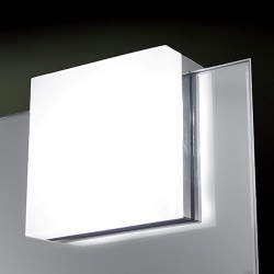 Luminaire LED carré pour miroir de salle de bain NEXIO