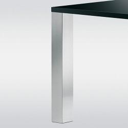 Pied de table look inox forme carré hauteur 700 mm