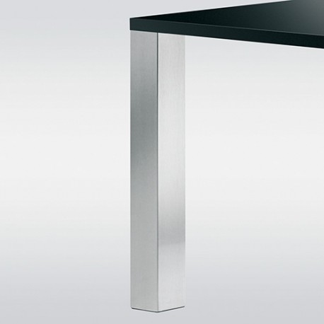 Pied de table look inox forme carré 100 mm