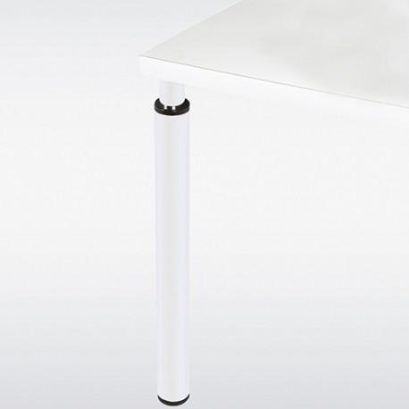 Pied de table blanc réglable rond 60 mm