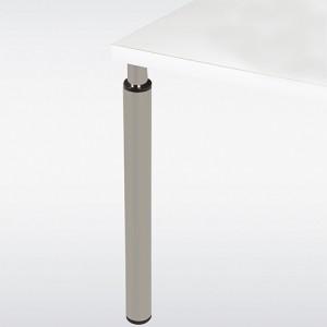 Pied de table look inox réglable rond 60 mm