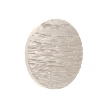 Bouton de meuble rond bois blanchi LUNA