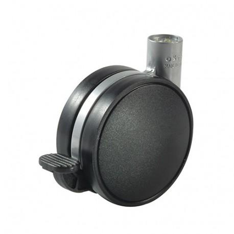 Roulette double galet à frein avec platine