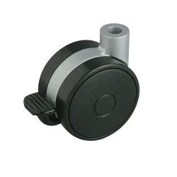 Roulette double galet gris ou noir